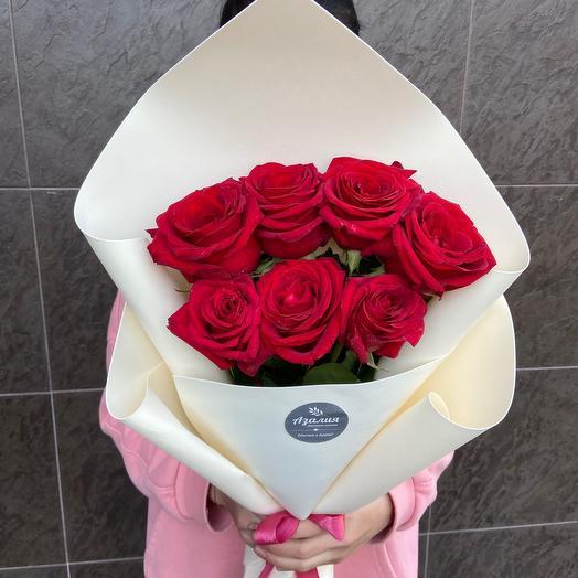 7 роз🌹🌹🌹: букеты цветов на заказ Flowwow
