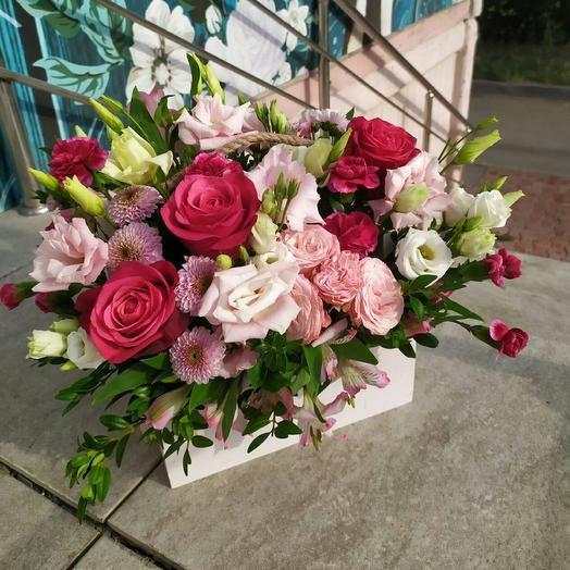 """Ящик """"Розовый сад"""""""