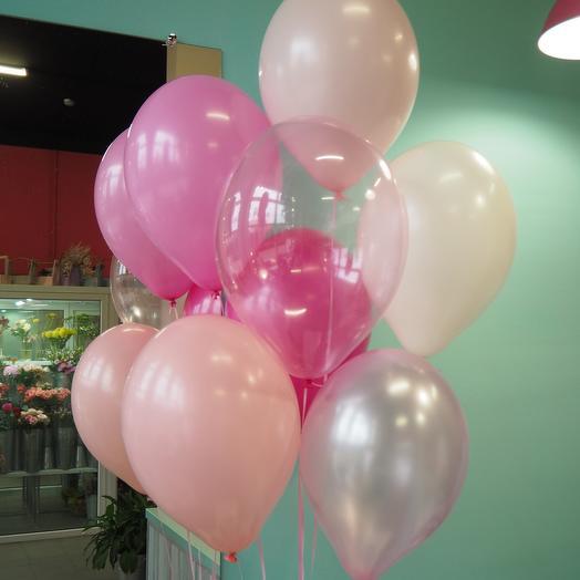 Набор из 7 розовых шаров