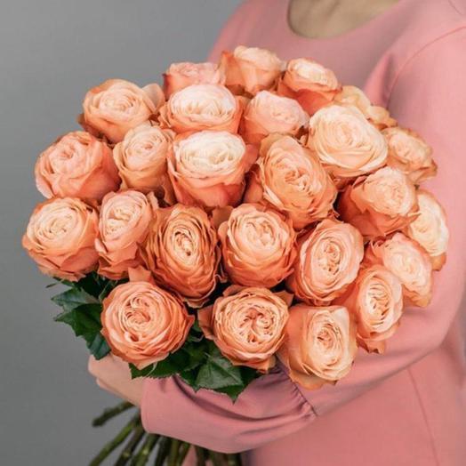 Монобукет из пионовидной персиковой розы