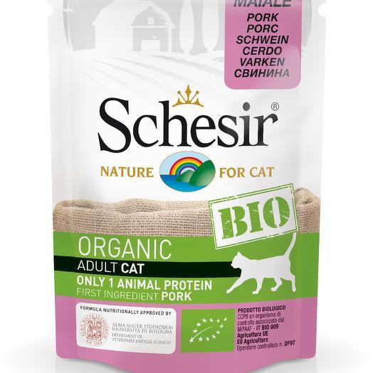 Schesir Bio консервы для кошек с свинина 85 г