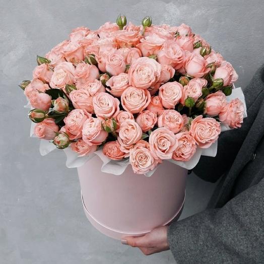 "Коробка""29 кустовых роз Бомбастик"""