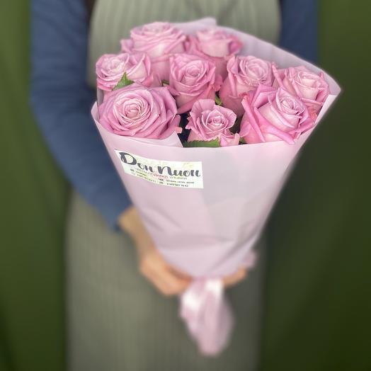 Букет из 9 сиреневых роз