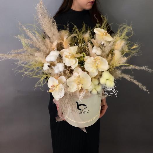 Шляпная коробка с Сухоцветами