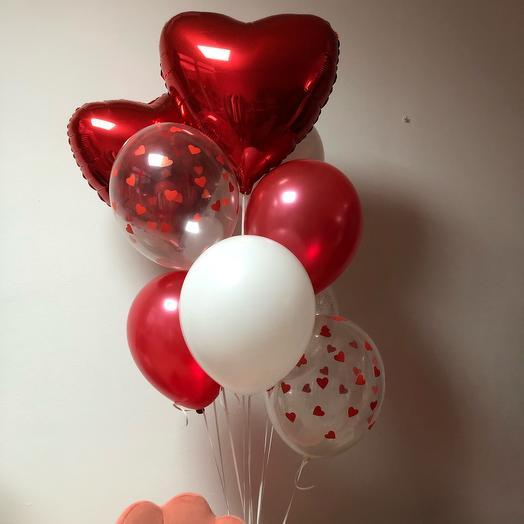 Сет шаров с сердцем