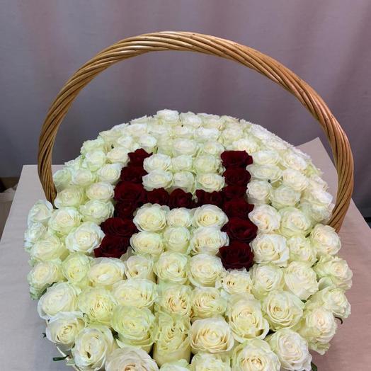 Корзина с цветами «Прекрасной Н...»