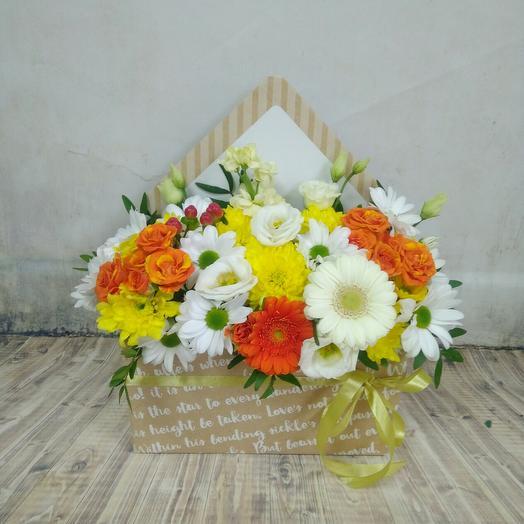 Солнечный конверт с цветами