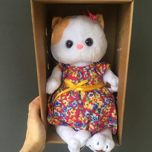 Ли-ли в цветном платье
