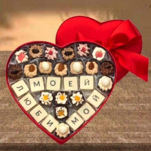 Сердце из шоколада ручной работы