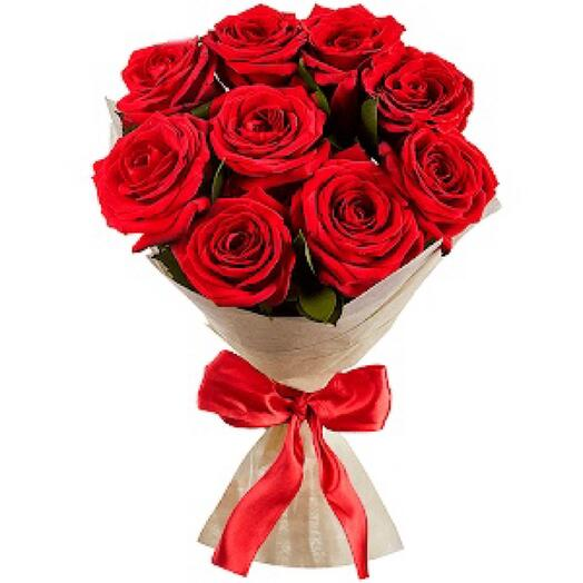 Bouquet of 9 red roses