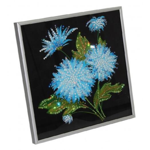 "Картина с кристаллами Swarovski ""Хризантемы"""