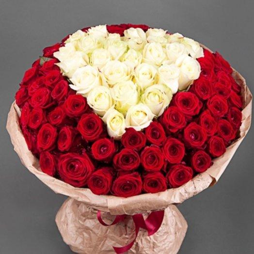 Белое сердечко: букеты цветов на заказ Flowwow