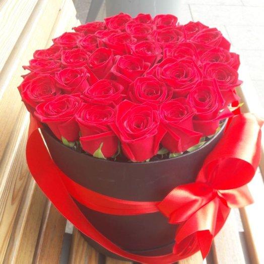 31 шт роз в коробке: букеты цветов на заказ Flowwow