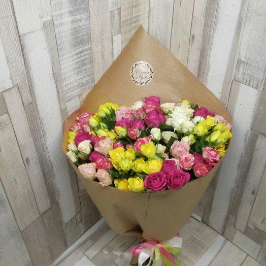 Букет из кустовых роз микс: букеты цветов на заказ Flowwow