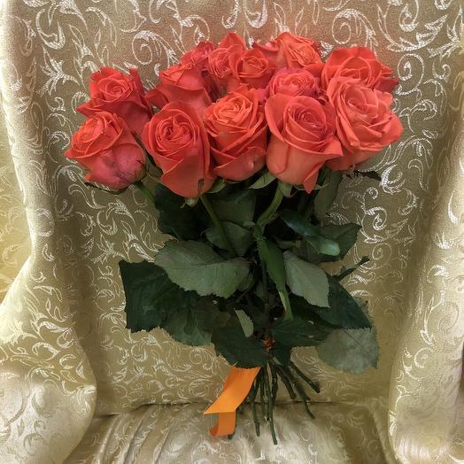 Розы Вау (15шт.60см): букеты цветов на заказ Flowwow