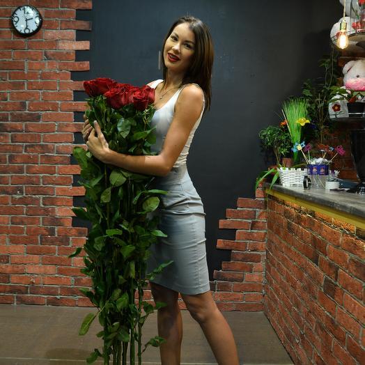 11 роз 160 см в букете суперпремиум (Эквадор): букеты цветов на заказ Flowwow