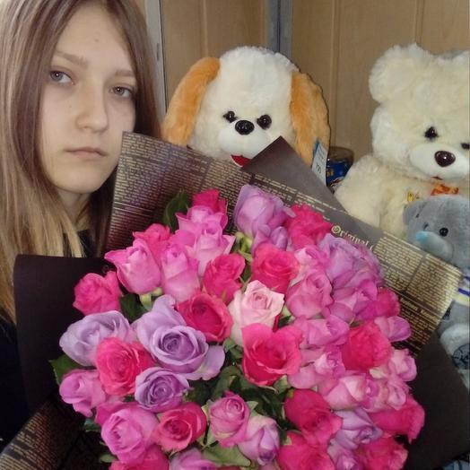 51 роза.. букет: букеты цветов на заказ Flowwow