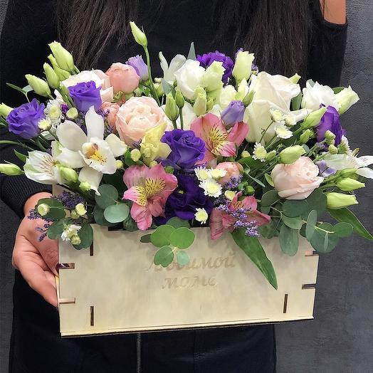 Экзотические Цветы в ящике: букеты цветов на заказ Flowwow