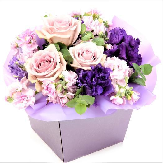 """Коробочка """"Лунария"""": букеты цветов на заказ Flowwow"""
