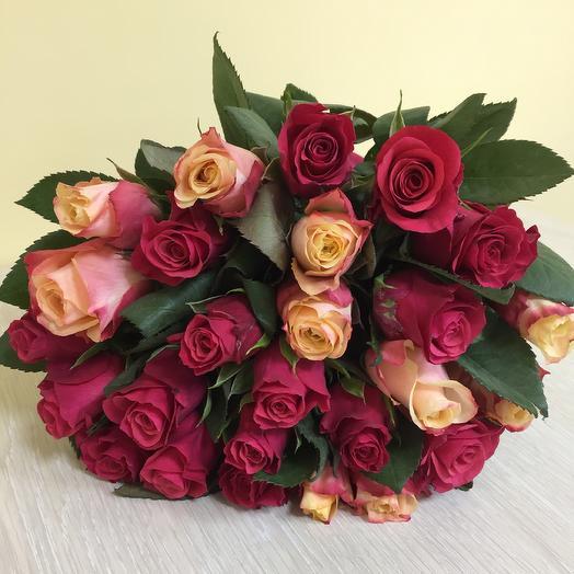 Букет из 25 роз 70 см Эквадор: букеты цветов на заказ Flowwow
