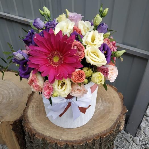 Коробочка микс цветов: букеты цветов на заказ Flowwow