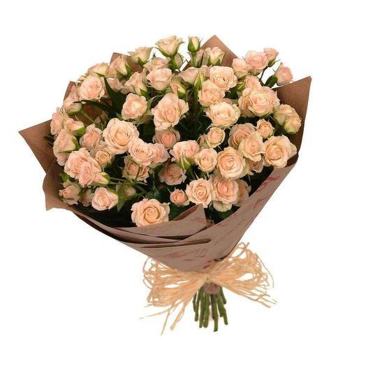 """Букет из кустовых роз """"Воздушный"""""""