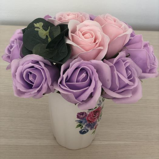 Букет 15 из мыльных цветов: букеты цветов на заказ Flowwow