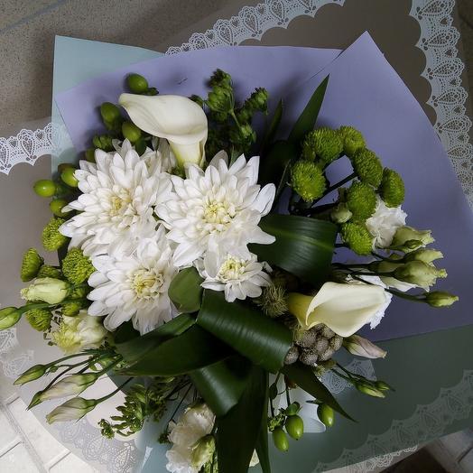 Букет с белыми каллами: букеты цветов на заказ Flowwow