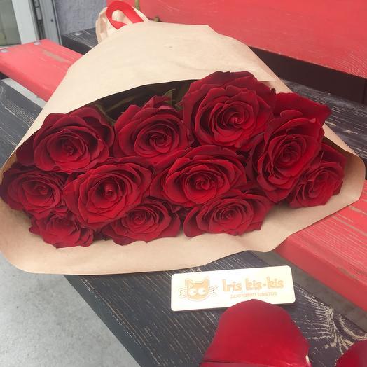 Букет «11 красных роз»: букеты цветов на заказ Flowwow
