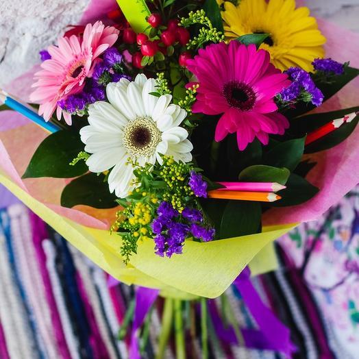 Букет на 1 Сентября 3: букеты цветов на заказ Flowwow