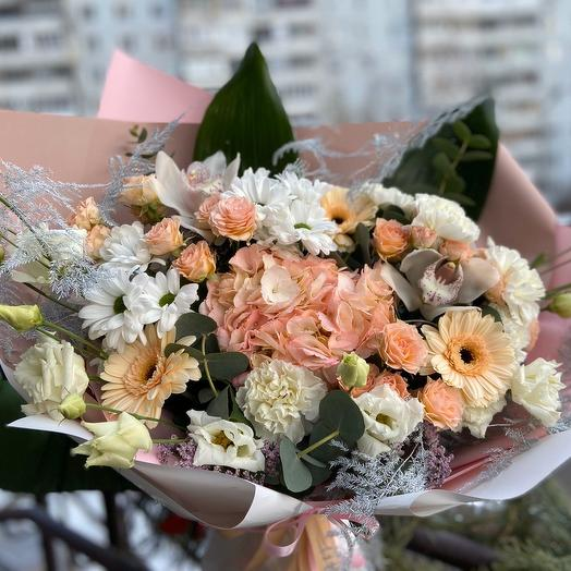Персиковый рай💛: букеты цветов на заказ Flowwow