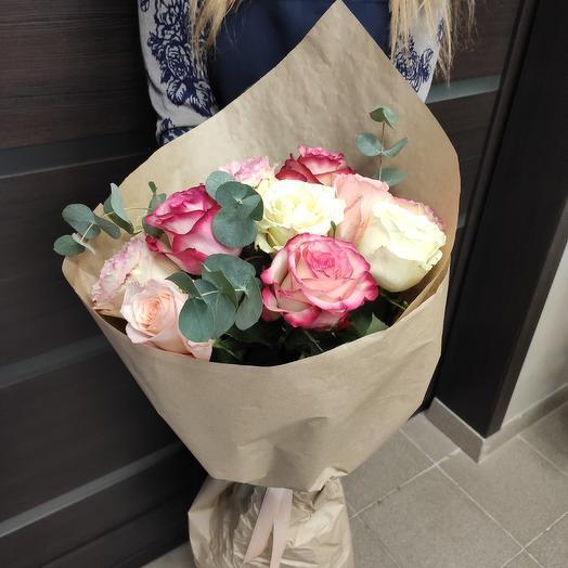 Большой букет из роз: букеты цветов на заказ Flowwow