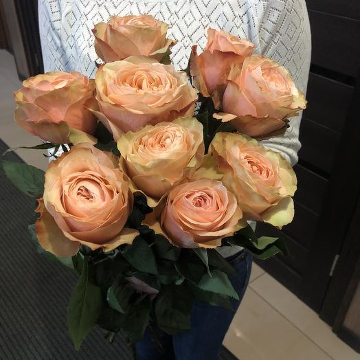 9 шт розовых роз: букеты цветов на заказ Flowwow
