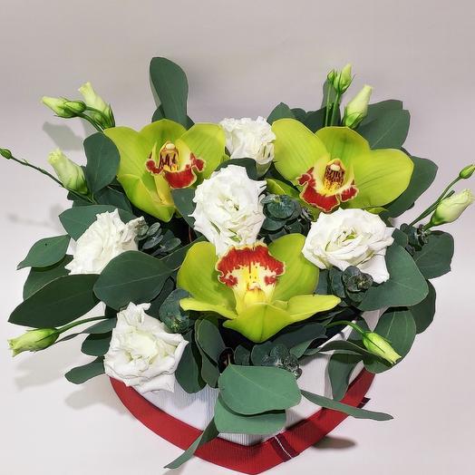 Коробочка сборная сердце: букеты цветов на заказ Flowwow