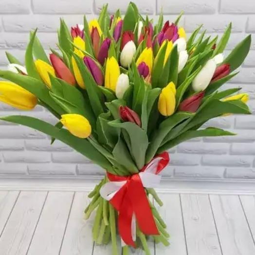 Букет из тюльпанов: букеты цветов на заказ Flowwow