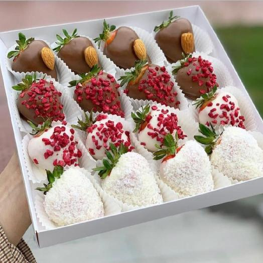 Set of chocolate-covered strawberries