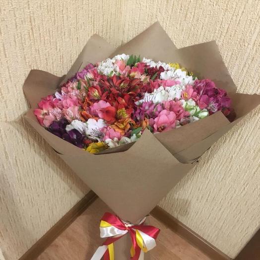 Букет из 49 альстромерий: букеты цветов на заказ Flowwow