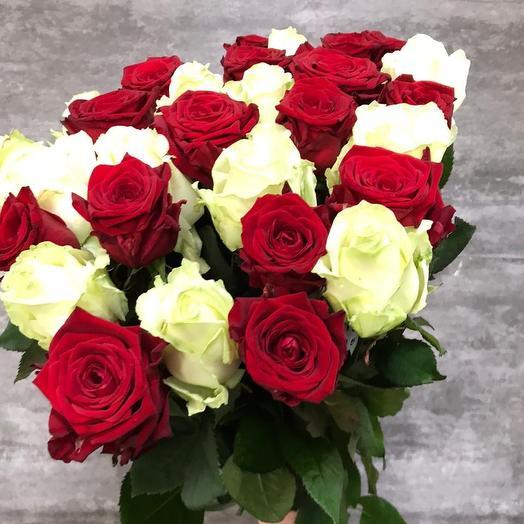 Красно белье Голландские розы 29 Шт: букеты цветов на заказ Flowwow
