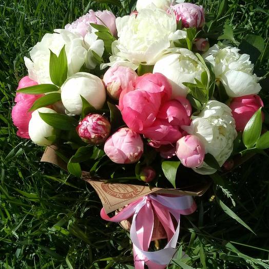 Пион микс: букеты цветов на заказ Flowwow