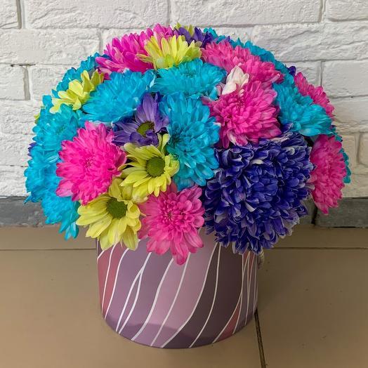 Коробка Радуга: букеты цветов на заказ Flowwow