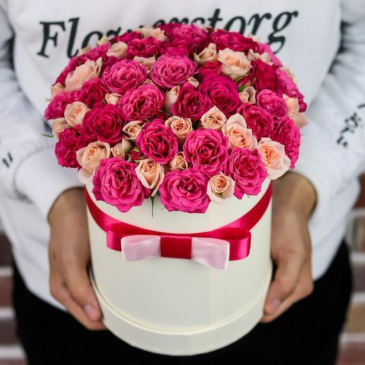 Коробки с цветами. Кустовые розы. N134