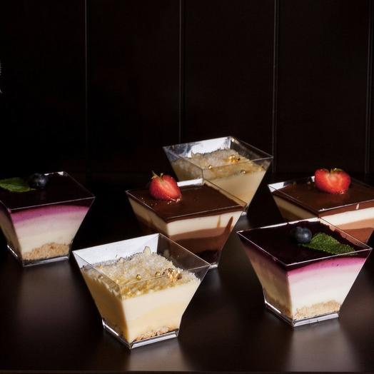 Индивидуальные десерты к креманках