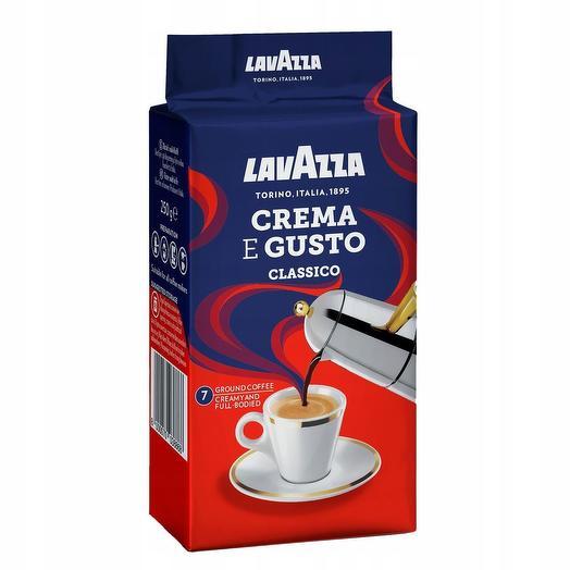 Lavazza crema e gusto кофе молотый 250 гр