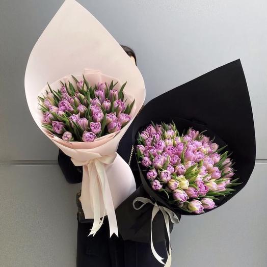 51 тюльпан в оформление