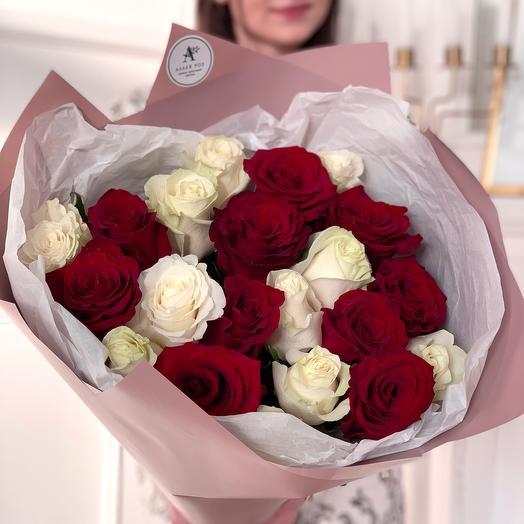 Букет из 21 розы Эквадор