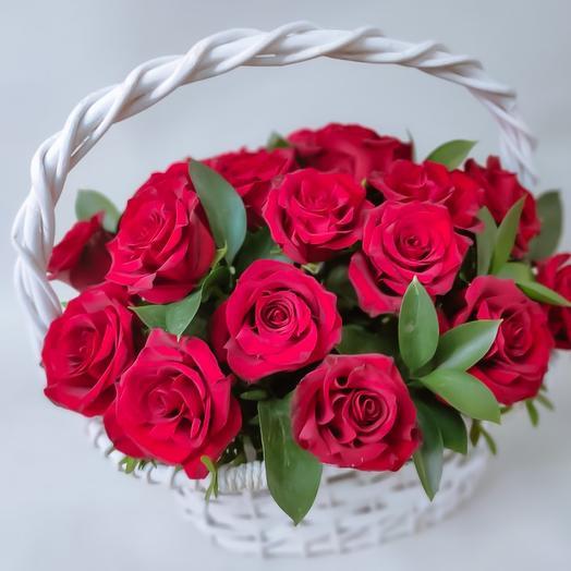 Корзина роз Премиум