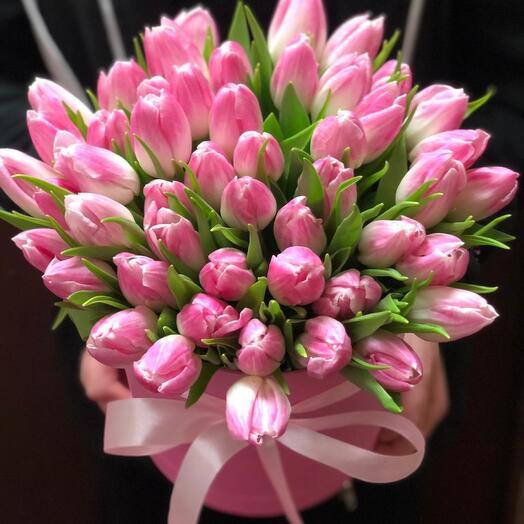 Коробочка Тюльпаны Розовые