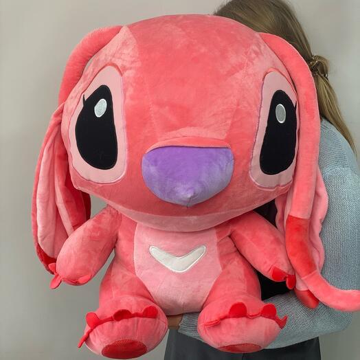 Стич розовый 60 см