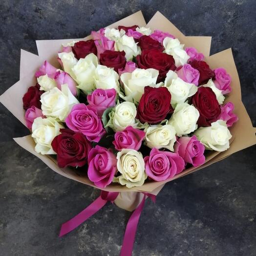 51шт Роза Микс