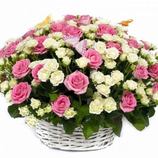Корзина Летняя рапсодия: букеты цветов на заказ Flowwow